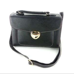 Black big buckle small purse